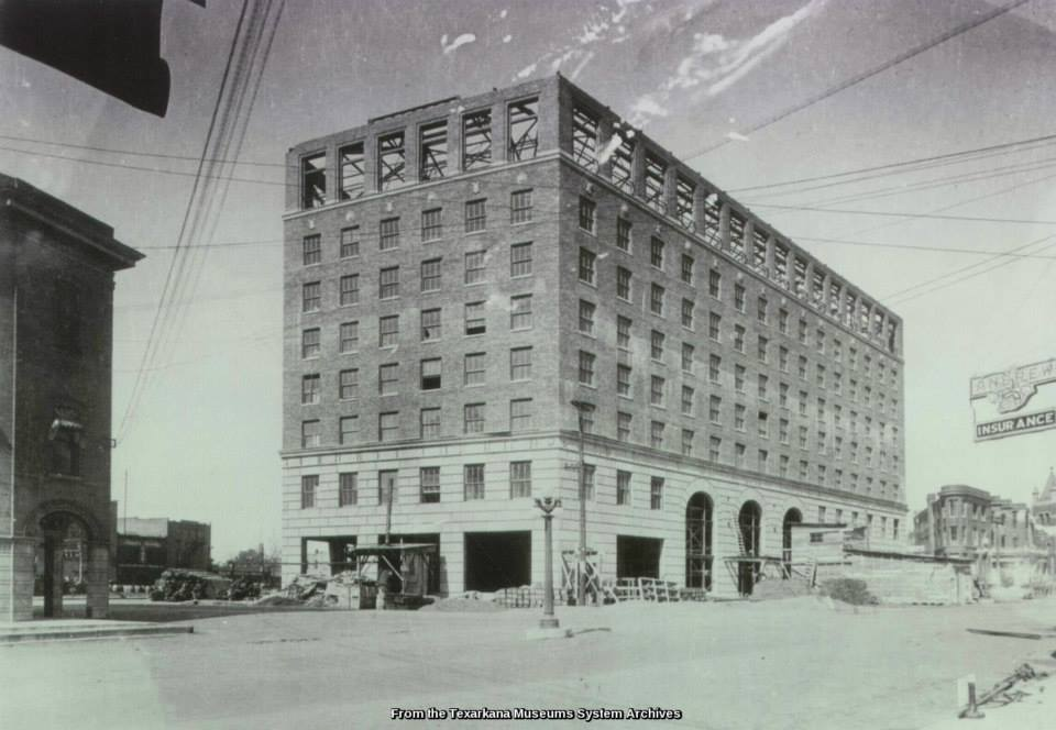 Black and white image of Hotel Grim